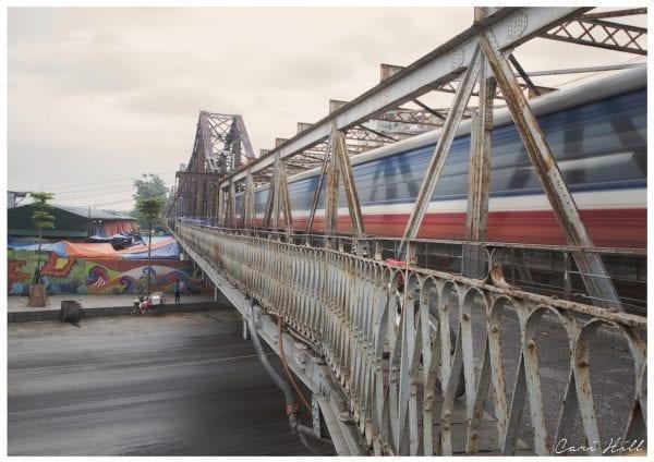 Passing Train on Long Bien Bridge