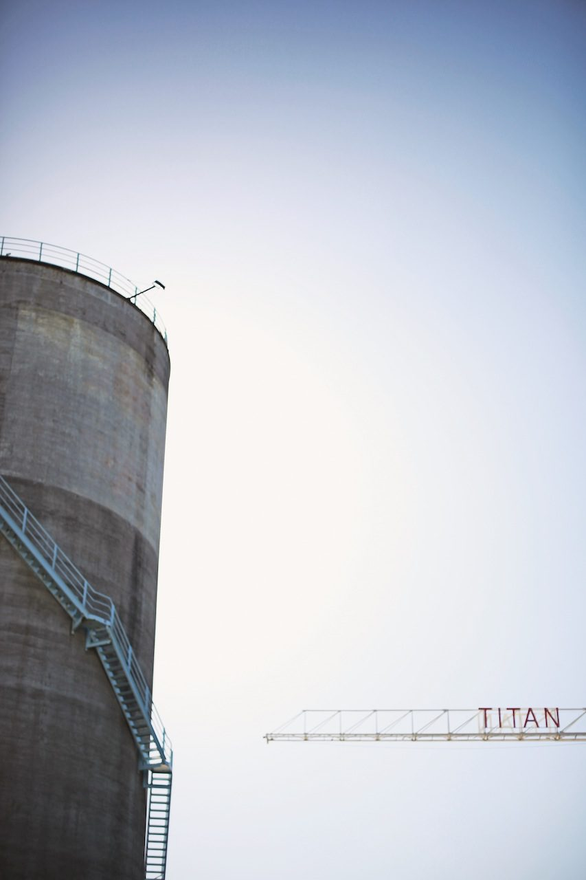 Artistic colour photo print of a Titan crane and silo in Silo Park, Auckland, New Zealand.