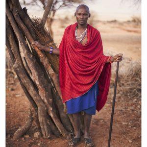 Maasai Man with Stick