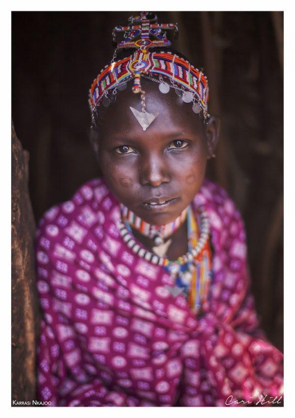 Maasai Girl in Pink