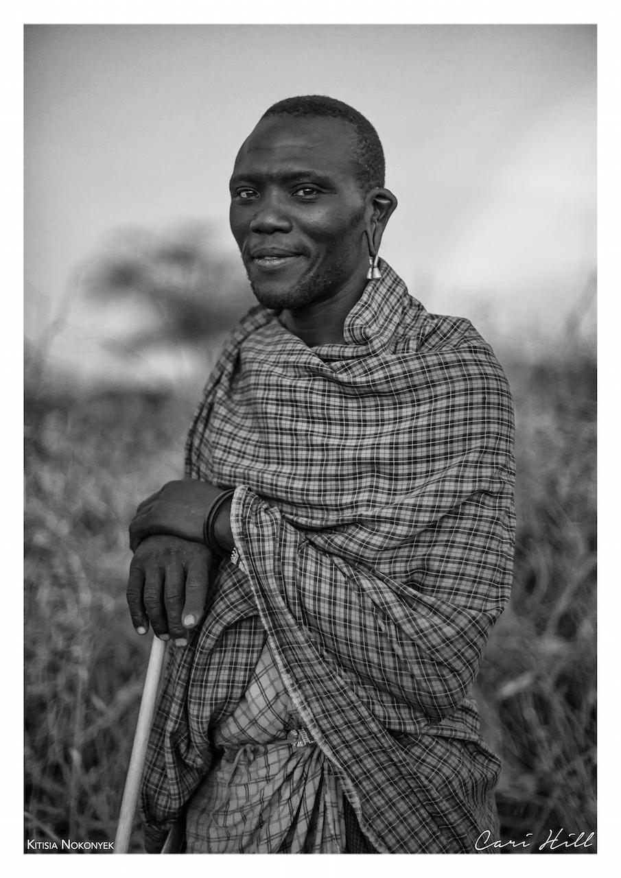 B&W Portrait of Maasai Man